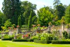 garden terrace at                         Englefield House