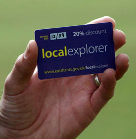 East Hants Local Explorer                                       Card
