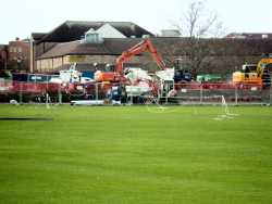 Building works on the Taunton Ground